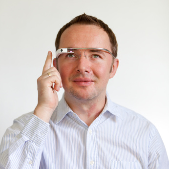Software Engineer Using Google Glass