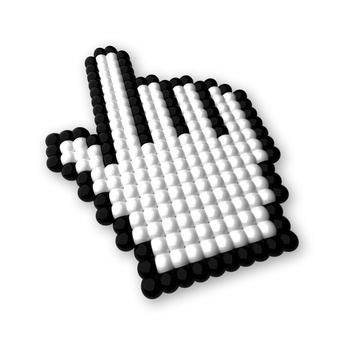 3d mouse pointer – hand – isolated