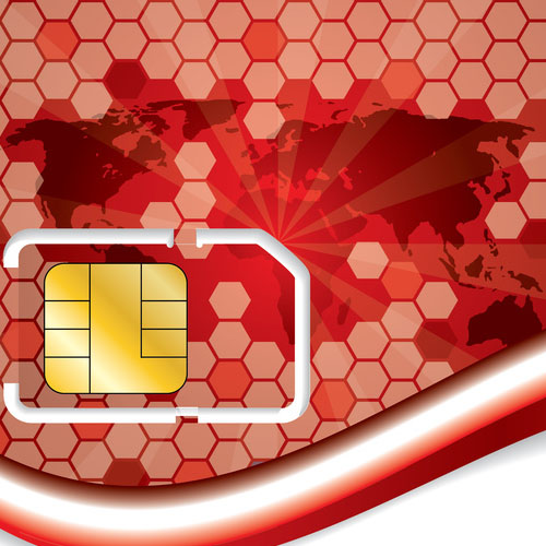 New sim card design with world map
