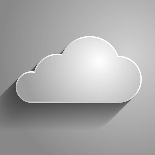 3d Vector illustration of a cloud icon