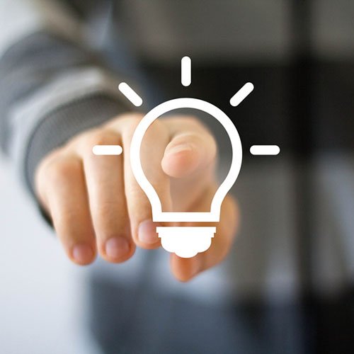 Button idea bulb business web